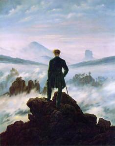 Caspar David Friedrich, wandelaar boven het nevelmeer