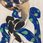 Leon Baksts, kostuumontwerp voor Nijinsky als de faun in Prélude à l'Après-midi d'un Faune (2)