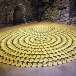 Richard Long, Mud hand circles (13)