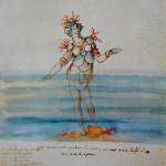 Bozzetti, kostuumontwerp voor intermedio La Pellegrina (5)